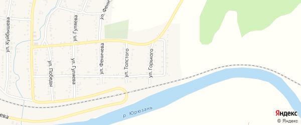 Улица Горького на карте Усть-Катава с номерами домов