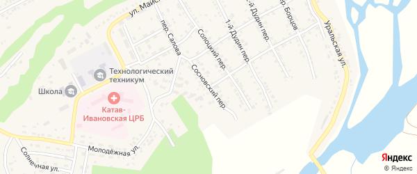 Сосновский переулок на карте Катава-Ивановска с номерами домов