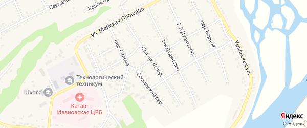 Солоцкий переулок на карте Катава-Ивановска с номерами домов