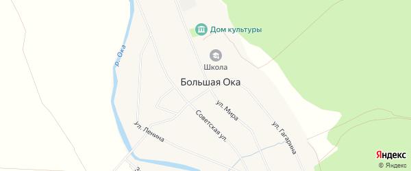 Карта села Большей Оки в Башкортостане с улицами и номерами домов