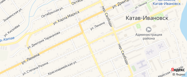 Улица Гусарова на карте Катава-Ивановска с номерами домов