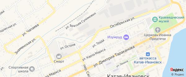 Октябрьская улица на карте Катава-Ивановска с номерами домов