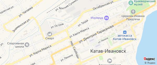 Улица Карла Маркса на карте Катава-Ивановска с номерами домов