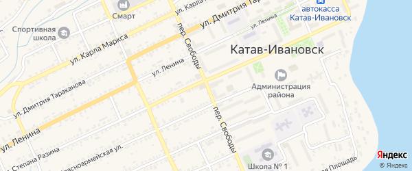 Переулок Свободы на карте Катава-Ивановска с номерами домов