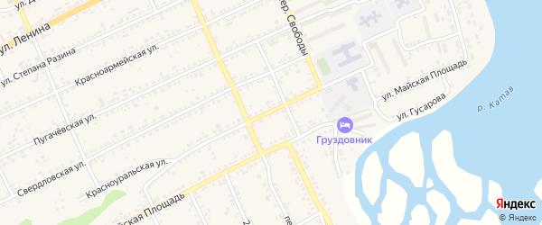 Красноуральская улица на карте Катава-Ивановска с номерами домов