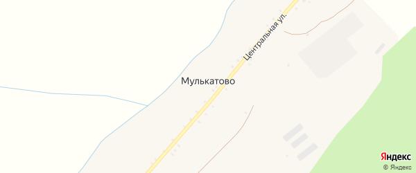 Центральная улица на карте деревни Мулькатово с номерами домов