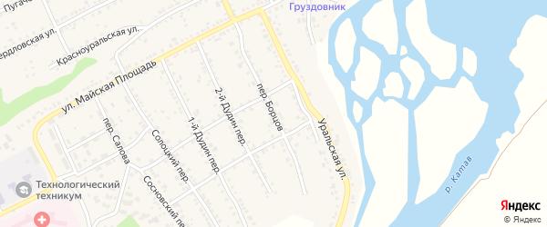 Переулок Борцов на карте Катава-Ивановска с номерами домов