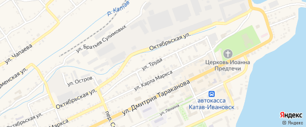 Улица Труда на карте Катава-Ивановска с номерами домов