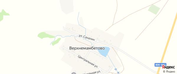 Улица Сахалин на карте деревни Верхнемамбетово с номерами домов