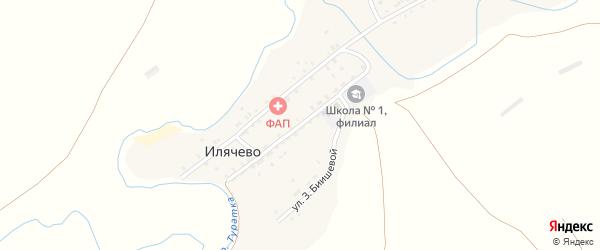 Улица Мира на карте деревни Илячево с номерами домов