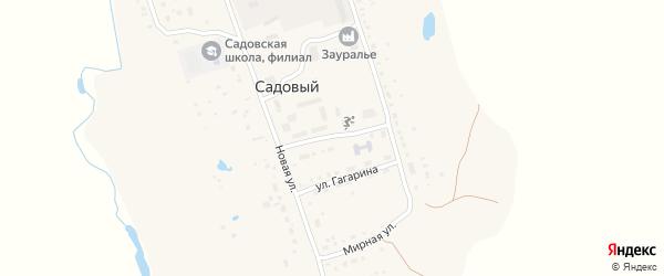 Садовая улица на карте села Садового с номерами домов