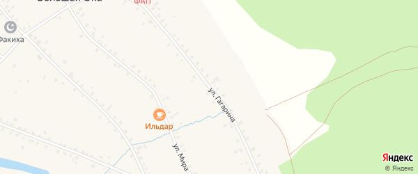 Улица Гагарина на карте села Большей Оки с номерами домов