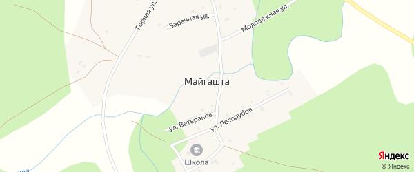 Улица Заря на карте деревни Майгашта с номерами домов