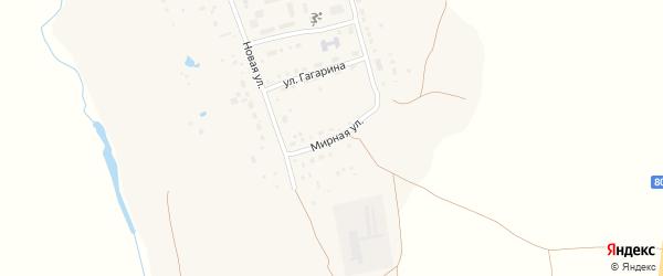Мирная улица на карте села Садового с номерами домов