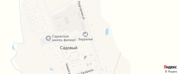 Подгорная улица на карте села Садового с номерами домов