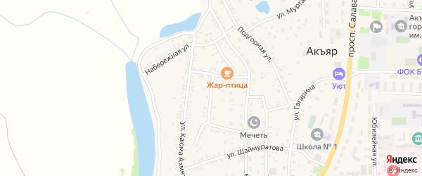 Садовая улица на карте села Акъяра с номерами домов