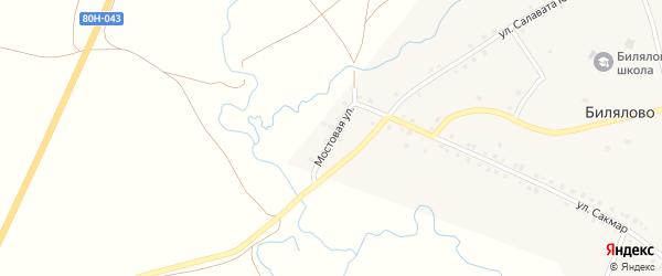 Мостовая улица на карте села Билялово с номерами домов