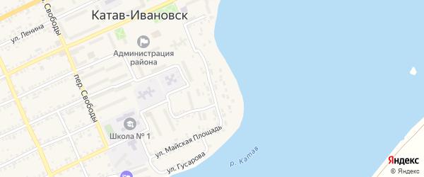 Улица Борцов Революции на карте Катава-Ивановска с номерами домов