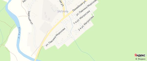 Александра Матросова 2-я улица на карте Катава-Ивановска с номерами домов