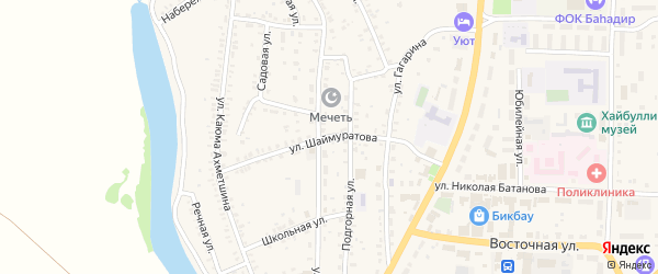 Улица Шаймуратова на карте села Акъяра с номерами домов