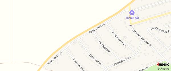 Тополиная улица на карте села Месягутово с номерами домов