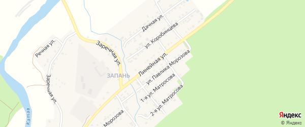 Линейная улица на карте Катава-Ивановска с номерами домов