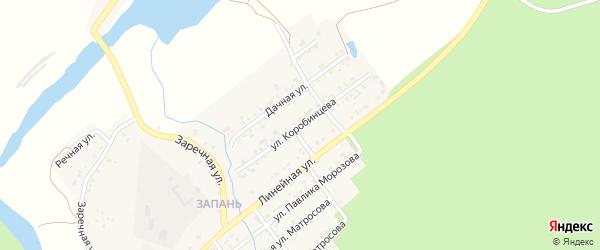 Улица Коробинцева на карте Катава-Ивановска с номерами домов