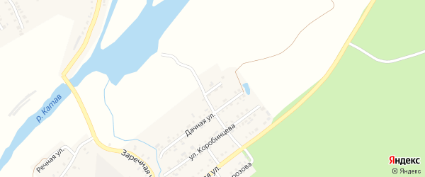 Дачный переулок на карте Катава-Ивановска с номерами домов