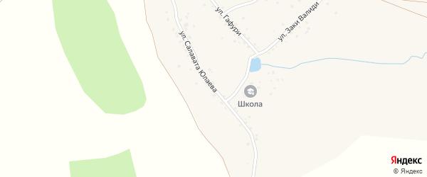 Улица С.Юлаева на карте деревни 1-е Мурзино с номерами домов