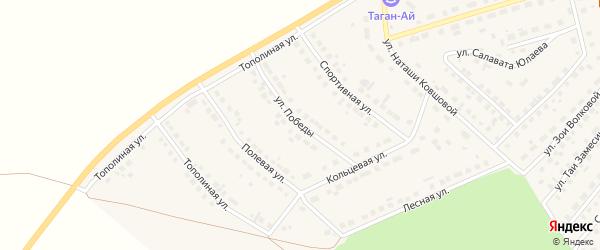 Улица Победы на карте села Месягутово с номерами домов