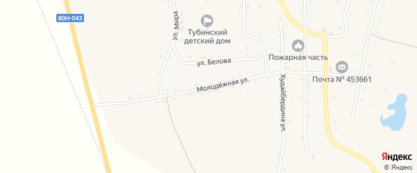 Молодежная улица на карте села Тубинского с номерами домов