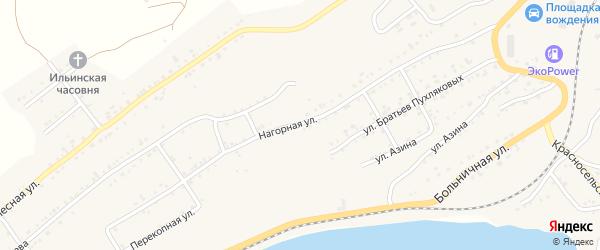 Нагорная улица на карте Катава-Ивановска с номерами домов