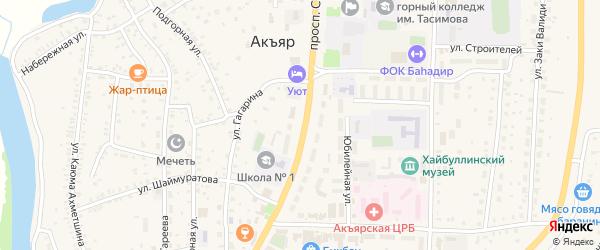 Улица Хадии Давлетшиной на карте села Акъяра с номерами домов