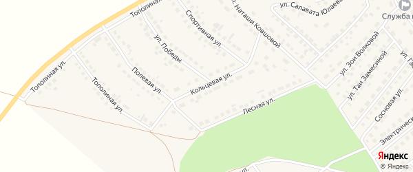 Кольцевая улица на карте села Месягутово с номерами домов