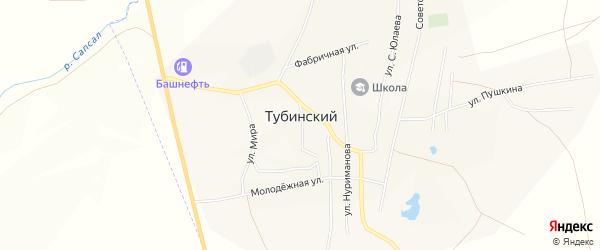 Карта села Тубинского в Башкортостане с улицами и номерами домов