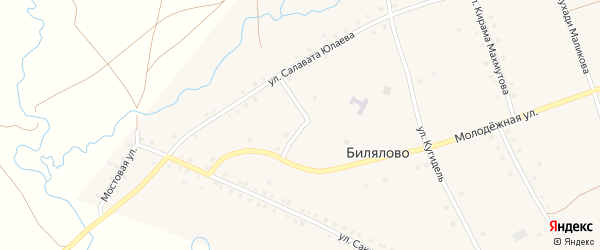 Улица З.Биишевой на карте села Билялово с номерами домов