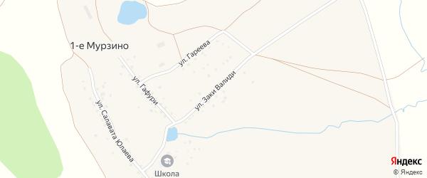 Улица Заки Валиди на карте деревни 1-е Мурзино с номерами домов