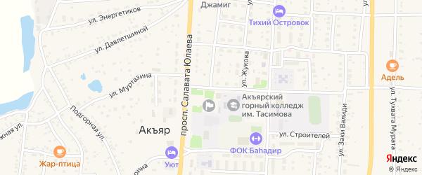 Улица Муртазина на карте села Акъяра с номерами домов