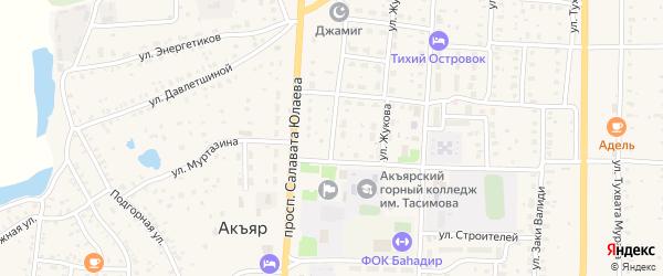 Улица Свободы на карте села Акъяра с номерами домов