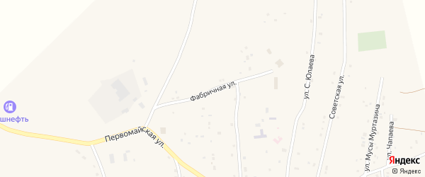 Фабричная улица на карте села Тубинского с номерами домов