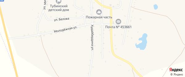Улица Худайбердина на карте села Тубинского с номерами домов