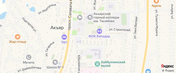 Молодежная улица на карте села Акъяра с номерами домов