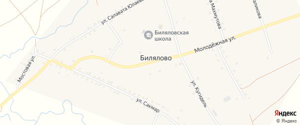 Улица Сакмар на карте села Билялово с номерами домов