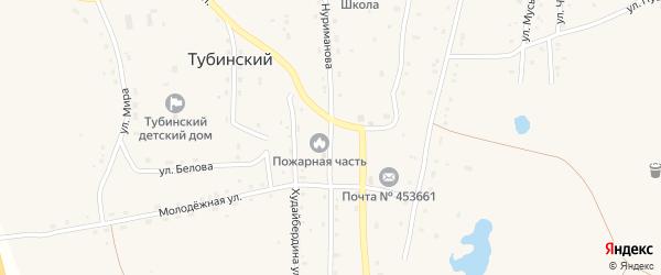 Улица Нуриманова на карте села Тубинского с номерами домов