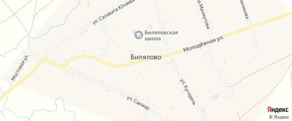 Улица З.Биишева на карте села Билялово с номерами домов
