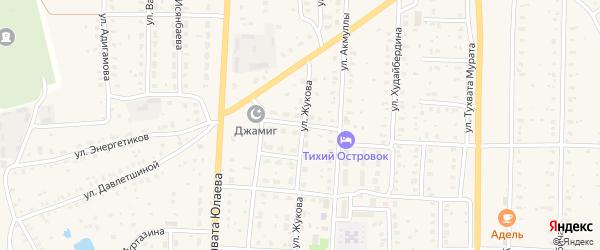 Улица Губайдуллина на карте села Акъяра с номерами домов