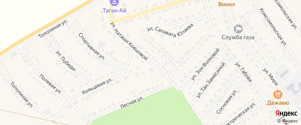 Улица Наташи Ковшовой на карте села Месягутово с номерами домов