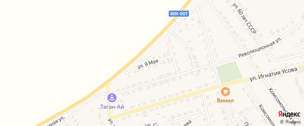 9 Мая улица на карте села Месягутово с номерами домов