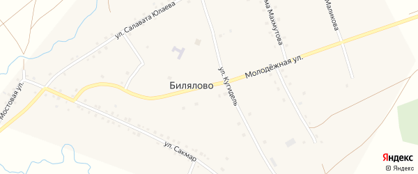 Молодежная улица на карте села Билялово с номерами домов
