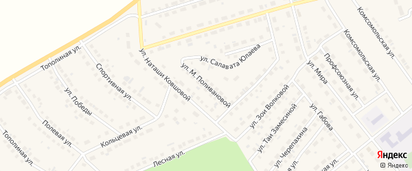 Улица М.Поливановой на карте села Месягутово с номерами домов